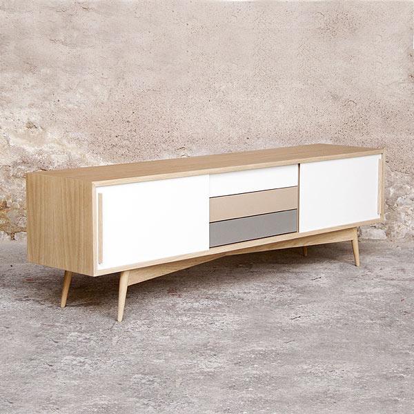 meuble sur mesure enfilade en bois