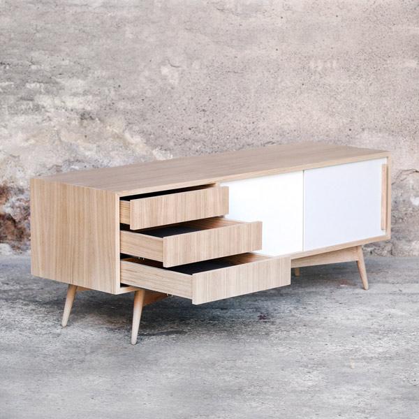 buffet meuble sur mesure en bois