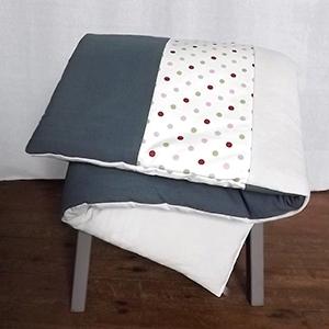 édredon en lin et coton pour lit