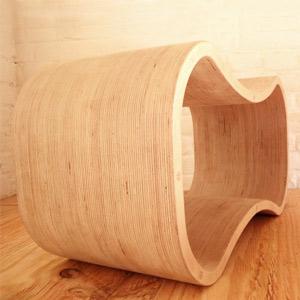meuble sur mesure tabouret en bois
