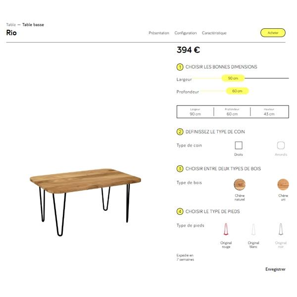 outil de conception de meuble sur mesure