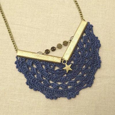 collier petite mouette : upcycling des bijoux