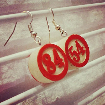 boucle d oreille upcycling