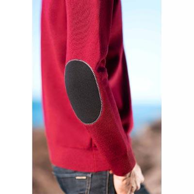 detail de pull teorum avec coudieres en neoprene