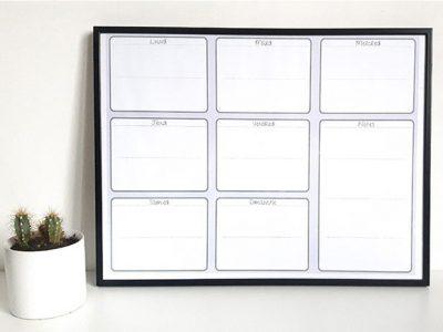 Diy planning semaine effaçable