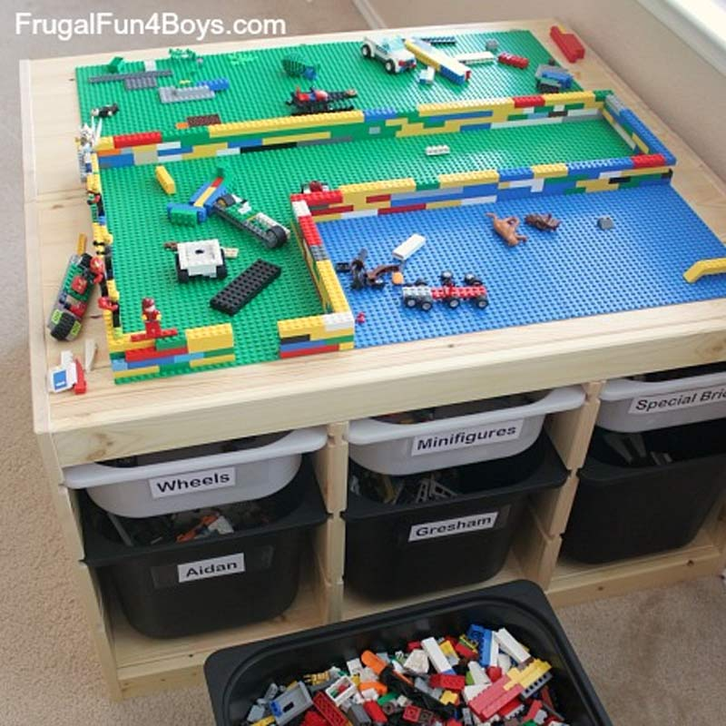 table de rangement pour lego avec meubles ikea