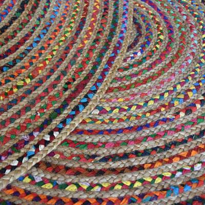egayer votre interieur avec un tapis rond en chanvre bio et tissus recycle de chez the rug republic