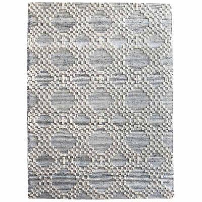 tapis recycle en laine et denim the rug republic
