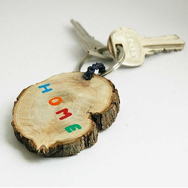 sapin : transformer un rondin en porte clefs
