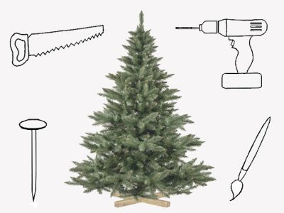 Sapin de Noël : si on le transformait en objet déco ?