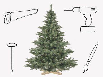 Sapin de Noël : si on le transformait en objet déco ?