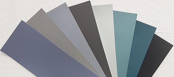 teintes de la peinture recyclée