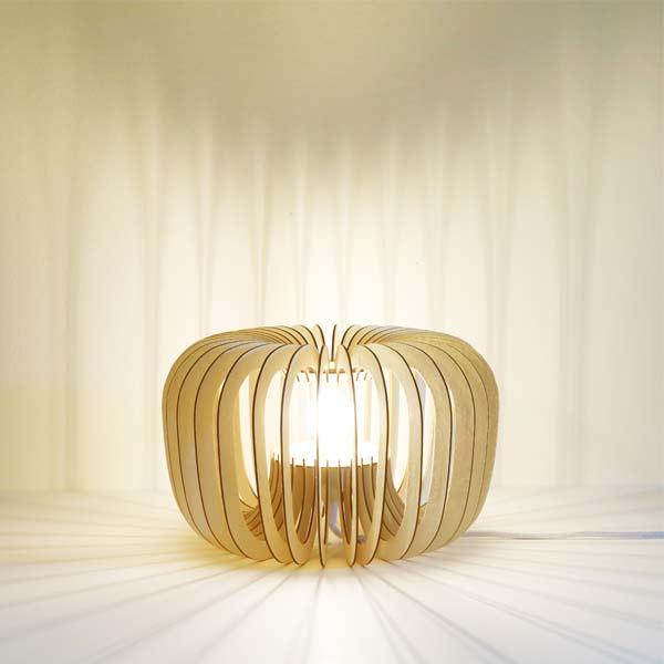 luminaires en bois recylé