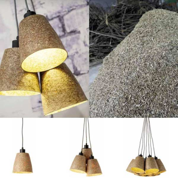 luminaires eco-responsables en bois agglomere
