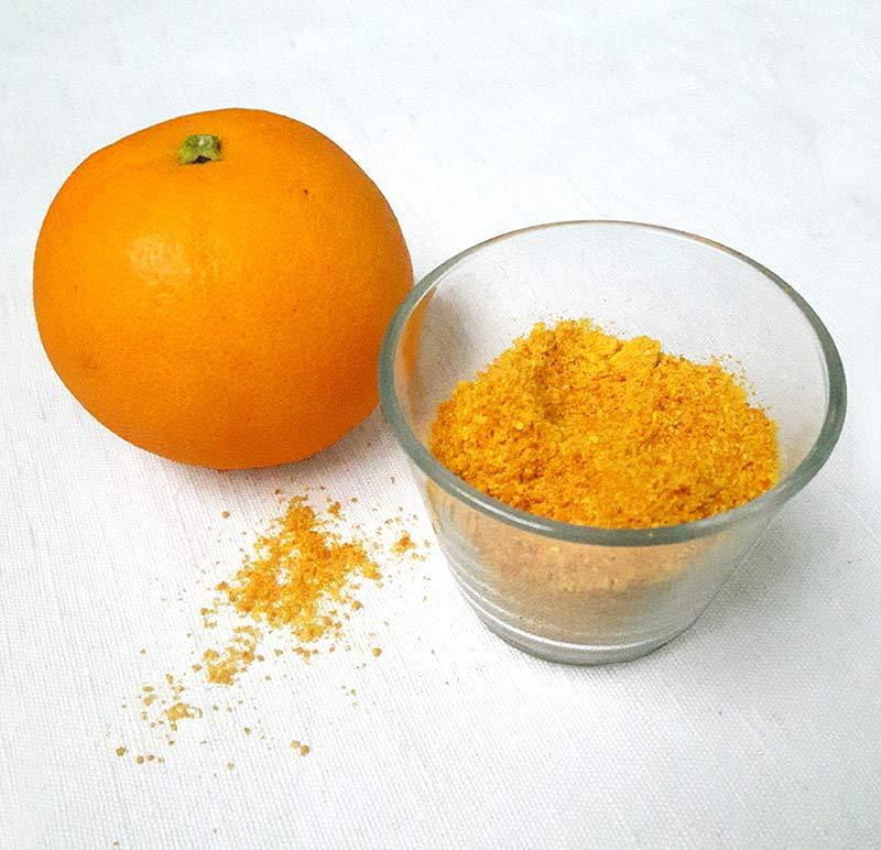 utiliser les epluchures : poudre d'orange