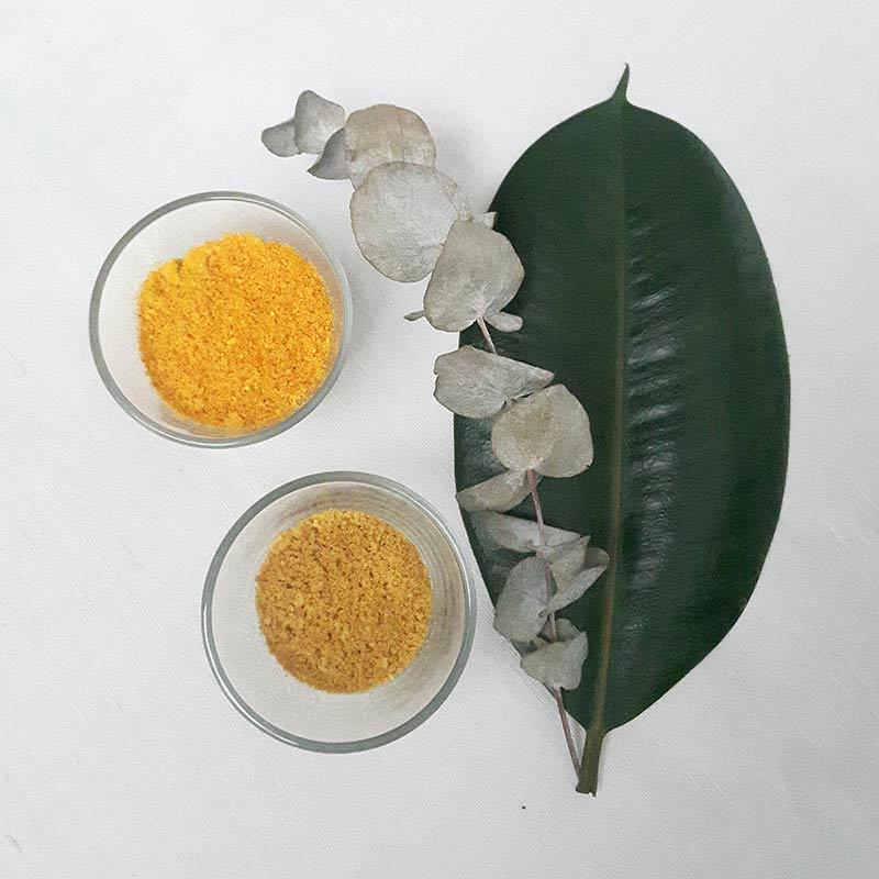 poudre d'orange et poudre de citron a partir d'épluchures