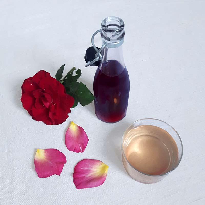sirop de rose maison