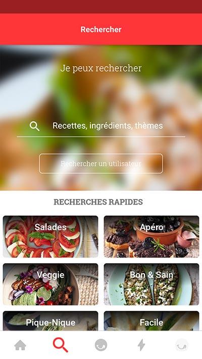 recherche de recettes de cuisine