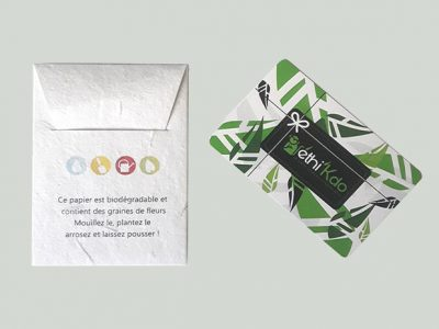 Carte cadeau Ethi'kdo : du choix et de la qualité !